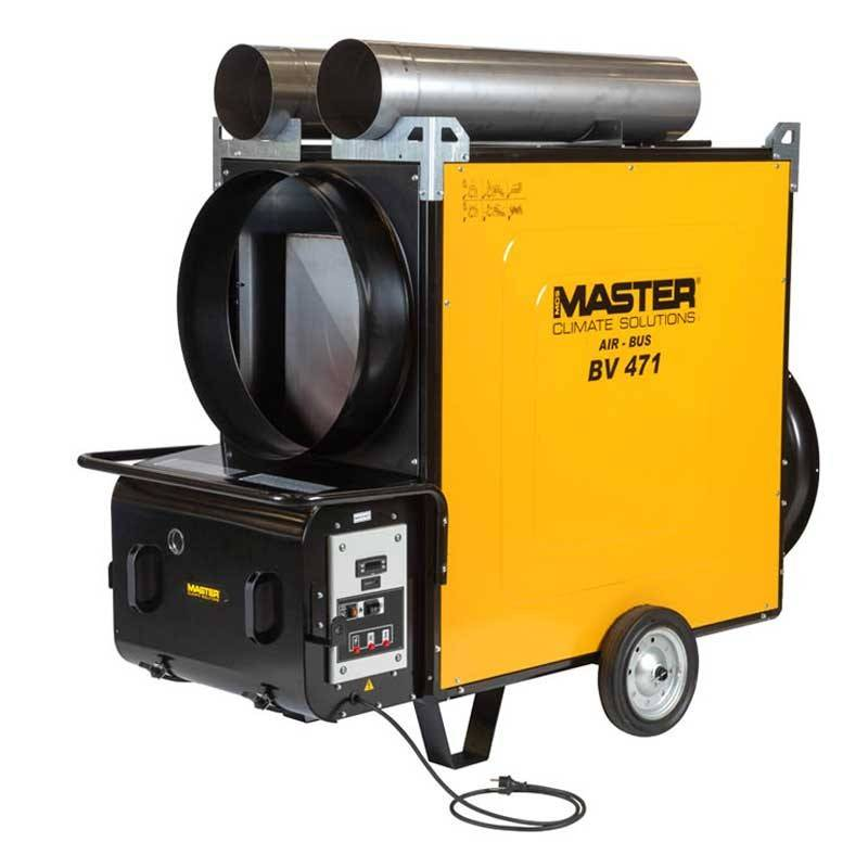 Master BV 471 S (136 kW) Air Bus oil fired heater with flue gas discharge MASTER
